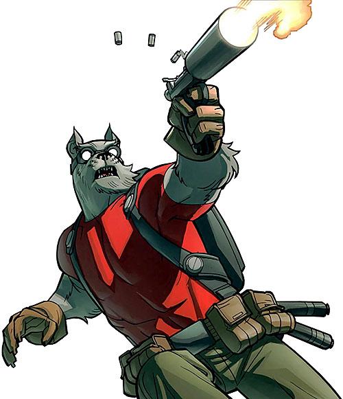 Science Dog (Image Comics Kirkman) shooting
