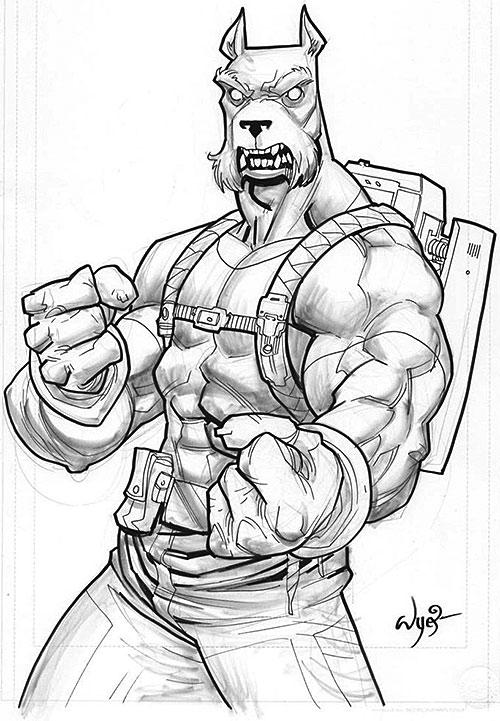 Science Dog (Image Comics Kirkman) B&W sketch