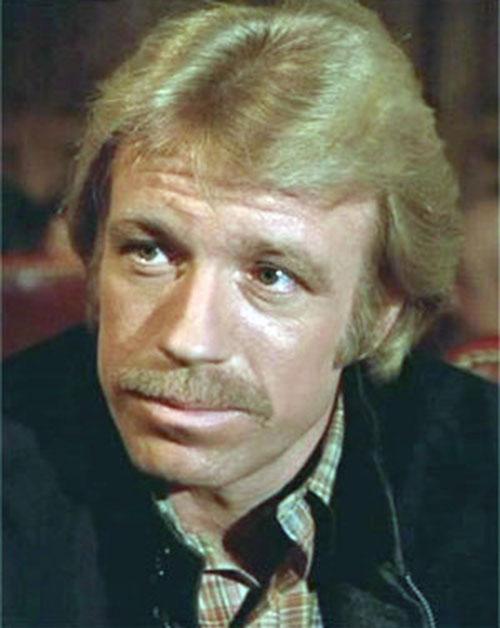 Scott James (Chuck Norris in The Octagon) face closeup
