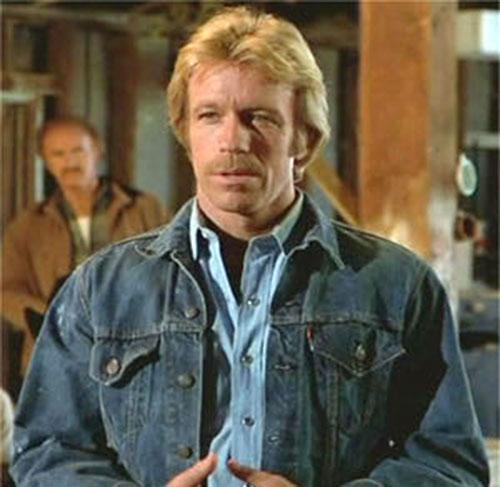 Scott James (Chuck Norris in The Octagon) in denim