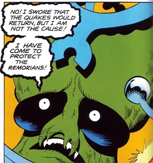 Sden (Legion of Super-Heroes enemy) (DC Comics) pleading face closeup