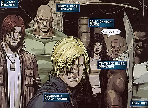 Secret Warriors team (Marvel Comics) underground