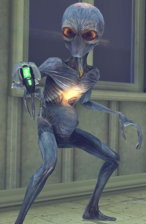 Sectoids (XCom video game) - with plasma forearm gun