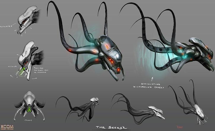 XCom video game - Seekers concept art by Piero MacGowan
