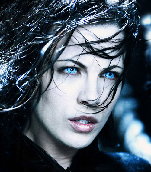 Selene (Kate Beckinsale in Underworld movies) portrait
