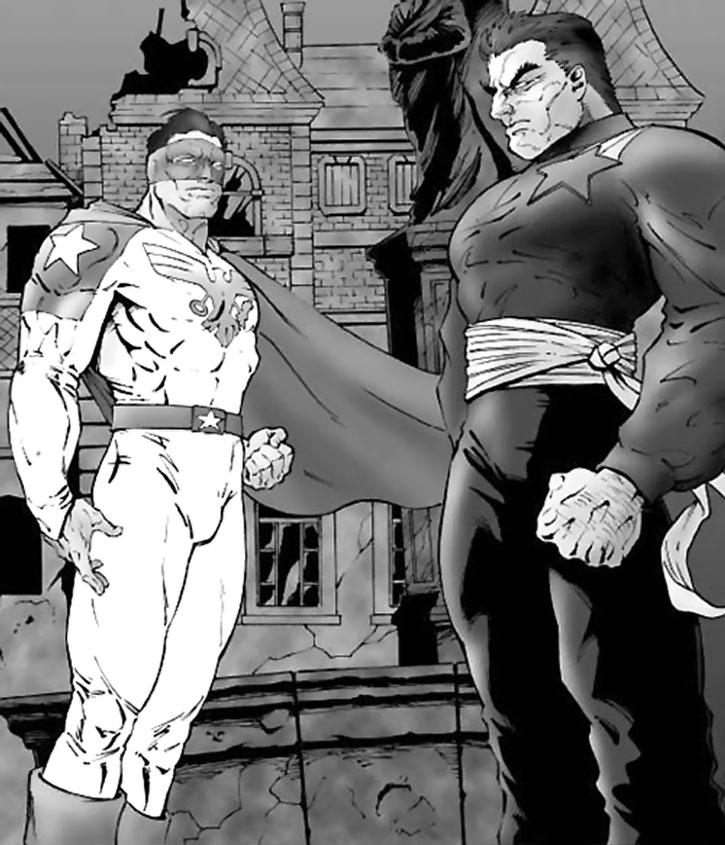 Sentinel (Maxwell Liberty) meets the Soviet hero Muzhik