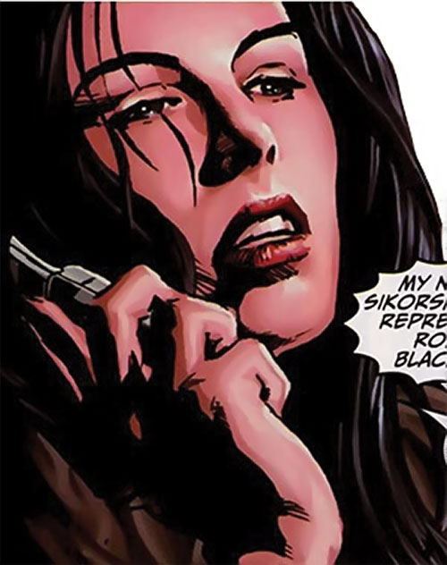 Sepulchre of the Secret Defenders (Marvel Comics) face closeup on the phone
