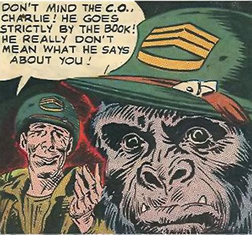 Sergeant Gorilla (DC Comics Star Spangled) face closeup