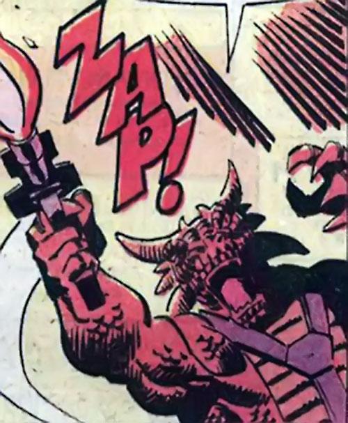 Serpentyne (Rom character) (Marvel Comics) firing a gun