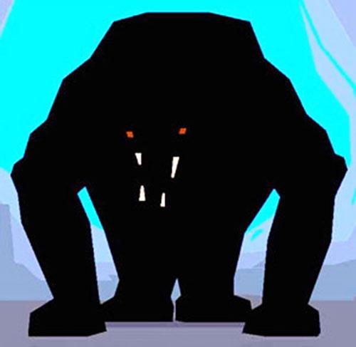 A threatening shadow lion