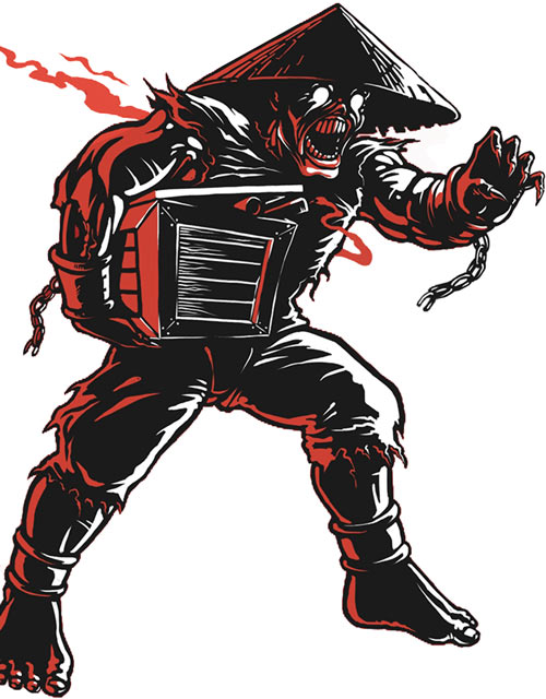 Coolie zombie (Shadow Warrior) with explosives crate