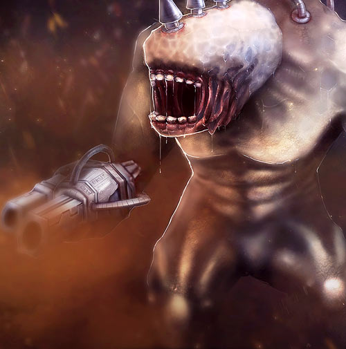 Shadowgrounds video game - Mauler brute