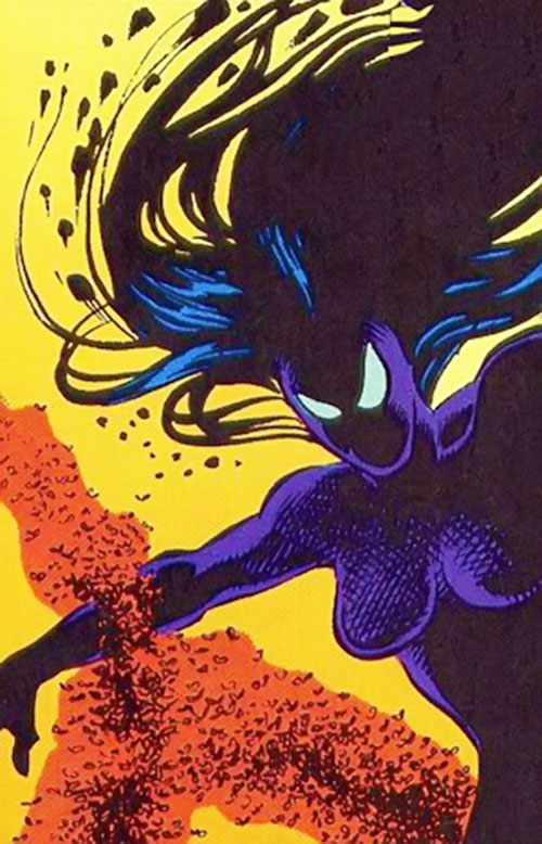 Shadowoman of the Secret Defenders (Marvel Comics) in shadow form