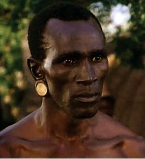 Shaka Zulu (Henry Cele) face closeup