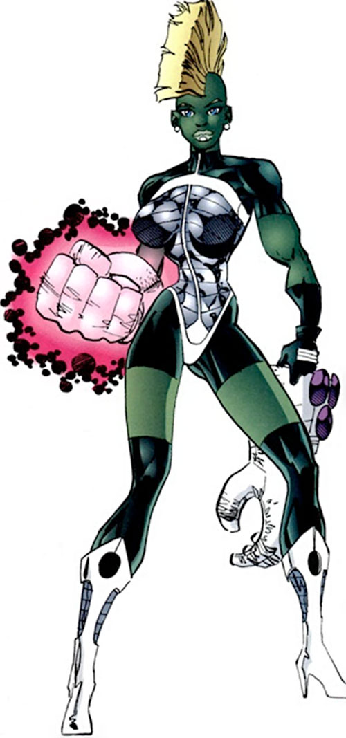She-Dragon (Savage Dragon comics) with her power gloves