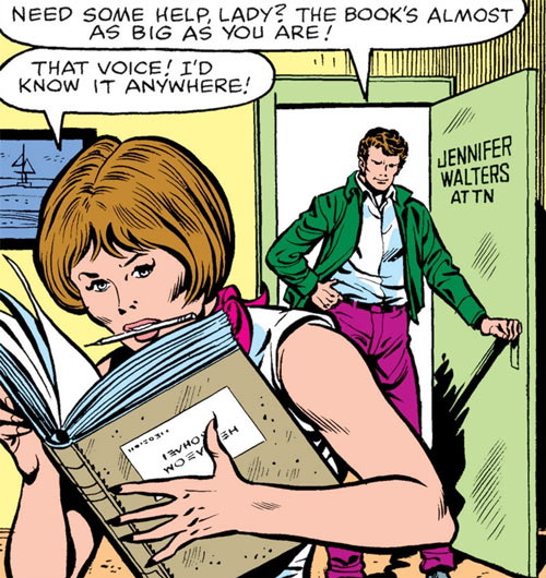 She-Hulk (Marvel Comics) (Early) as Jennifer Walters with a large legal book
