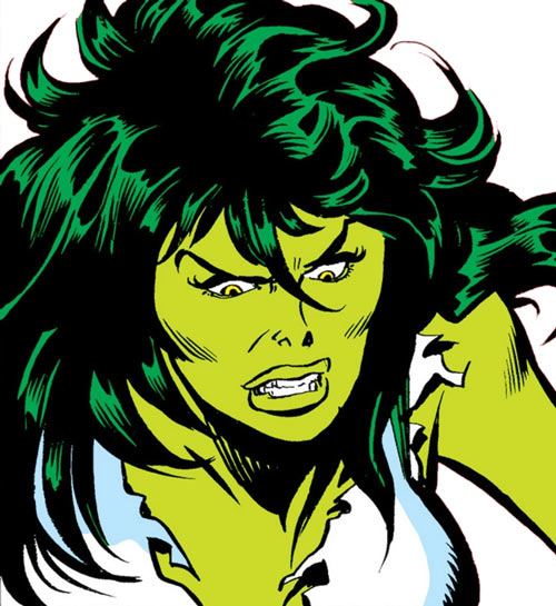 She-Hulk (Marvel Comics) (Early) angry face closeup