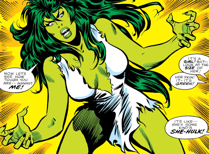 Jennifer Walter called the She-Hulk for the first time