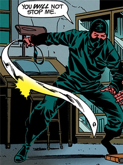 Shen Chi (Robin enemy) (DC Comics) with urumi and ninja costume