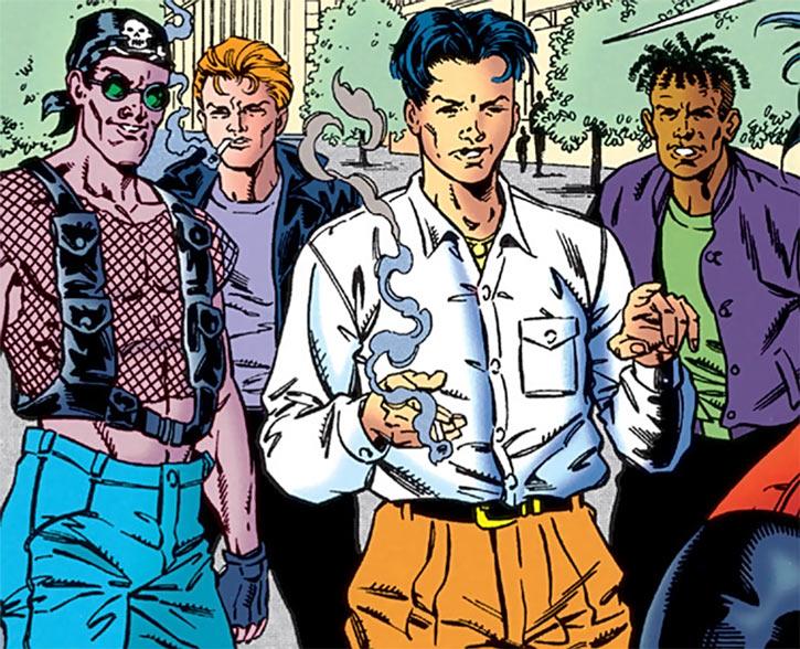Shen Chi and friends looking tough (DC Comics)