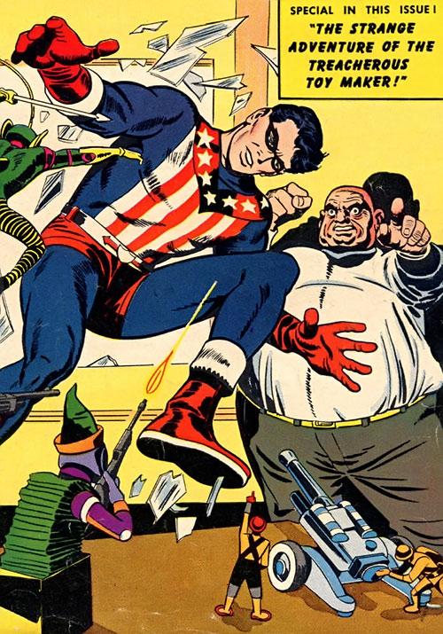 The Shield (Lancelot Strong) (Archie comics) vs. the treacherous toy maker