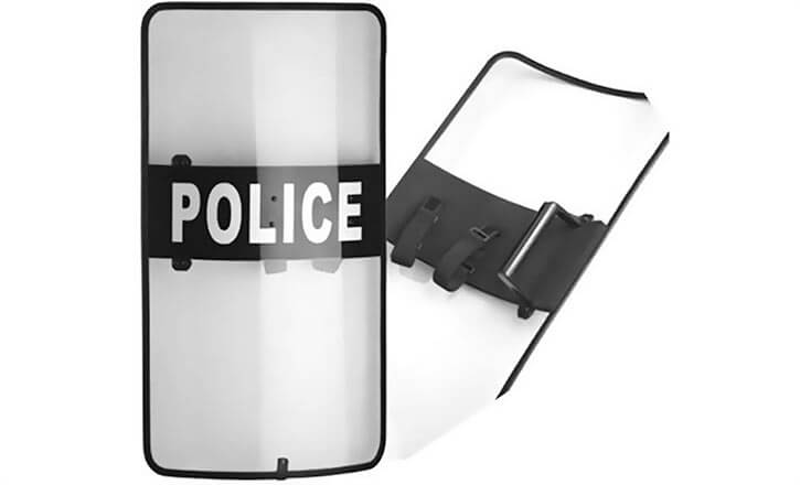 Transparent police riot shield