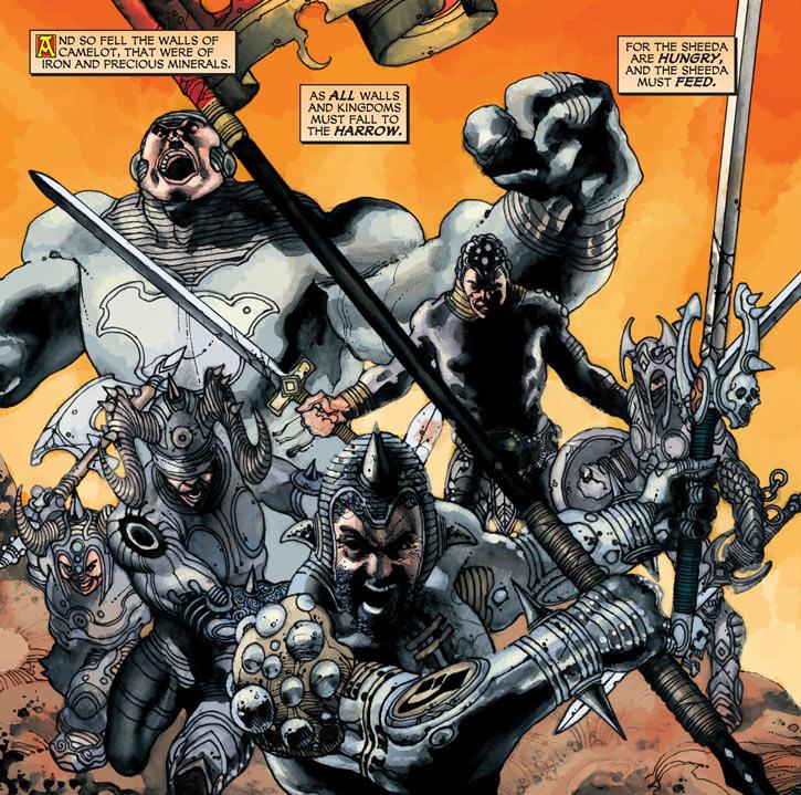 Shining Knight (Ystina) (DC Comics) Last knights of the Broken Table