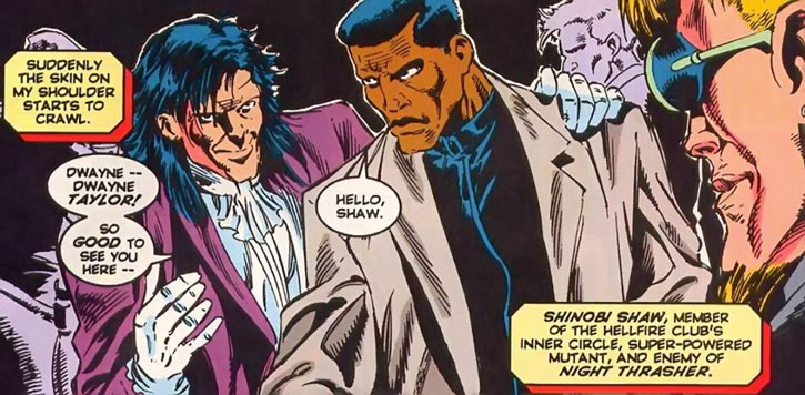 Shinobi Shaw (Marvel Comics) and Dwayne Taylor