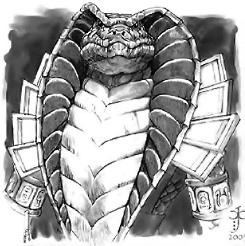Shissar portrait (Everquest RPG art)