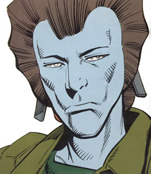 Shock of the Outcasts (DC Comics) face closeup