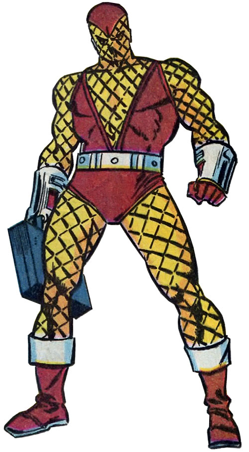 The Shocker (Spider-Man enemy) (Marvel Comics) with a case