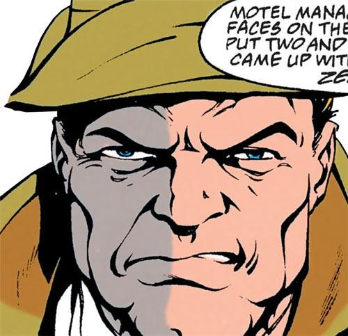 Shotgun Smith (Robin character) (DC Comics) face closeup