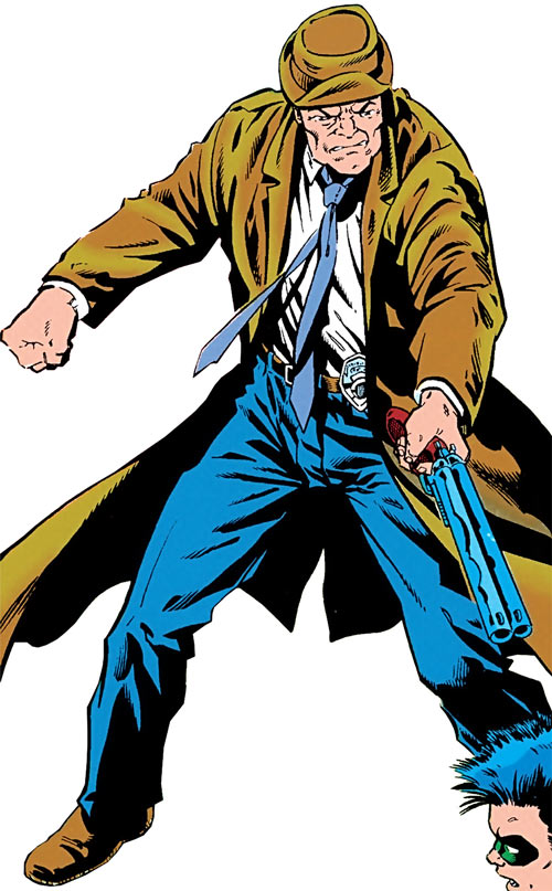 Shotgun Smith (Robin character) (DC Comics) pointing his sawed-off