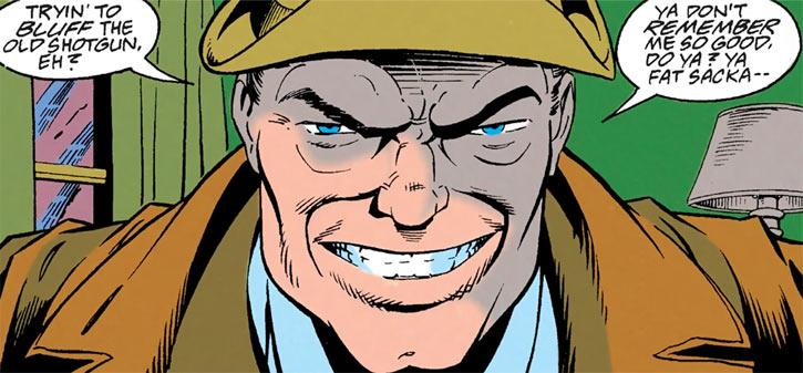 Shotgun Smith (Robin character) (DC Comics) threatening grin