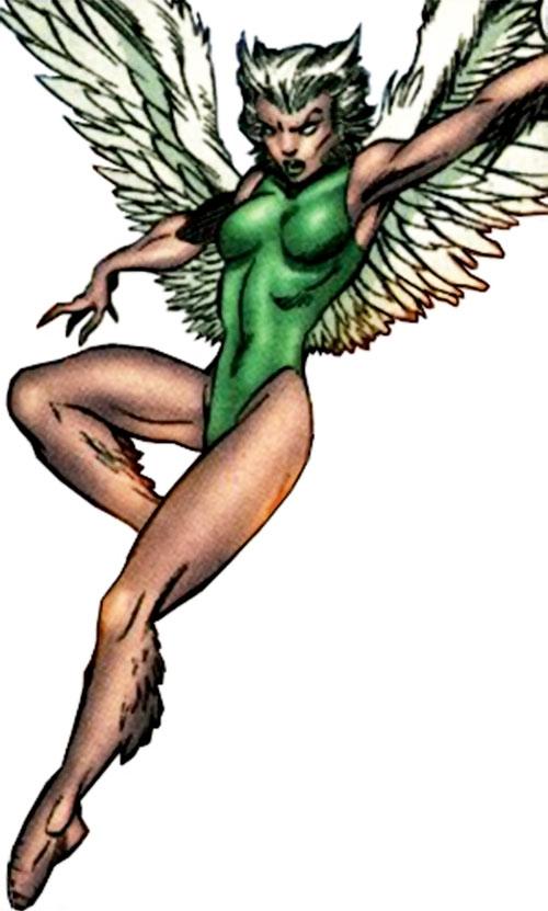 Starshrike aka Shrike of the Cadre (Power Company enemy) (DC Comics) in flight
