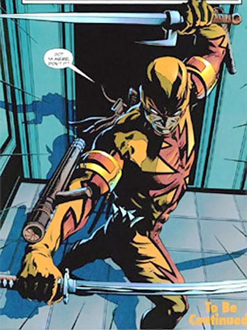Shrike (Nightwing enemy) (DC Comics) dual-wielding