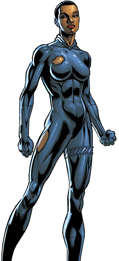 Black Panther (Shuri) (Marvel Comics) (Female) with her mask off