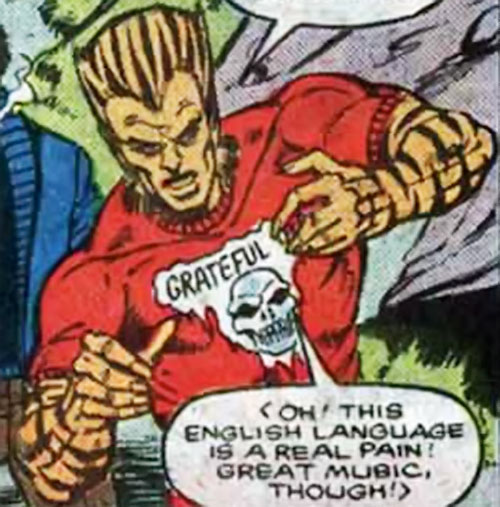 Sibercat from Russia (Marvel Comics) with a Grateful Dead T-Shirt