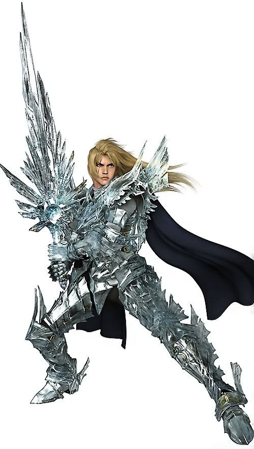 Siegfried Schtauffen (Soul Calibur) with a crystalline armor and sword