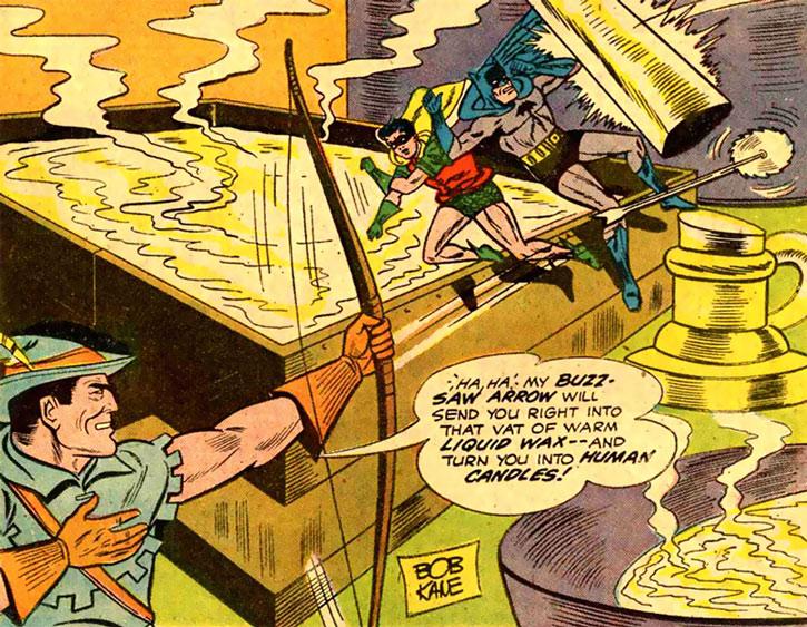 The Blue Bowman vs. Batman and Robin