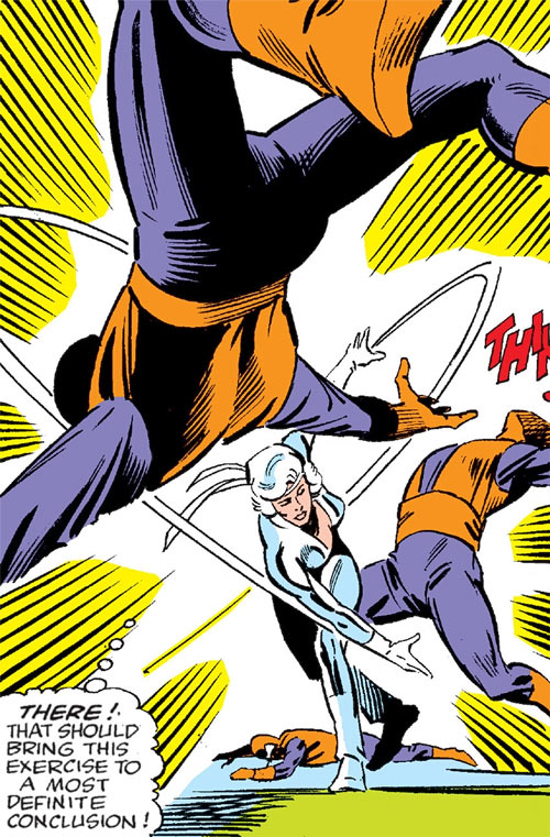 Silver Sable (Marvel Comics) (Early) sparring with Wild Pack agents