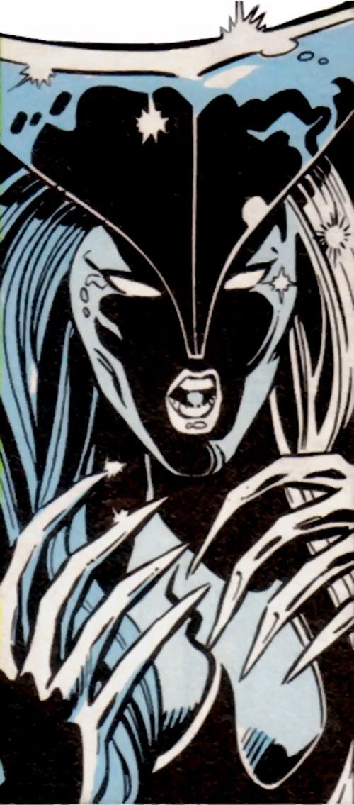Silver Slasher of the League of Super Assassins (LSH DC Comics) face closeup