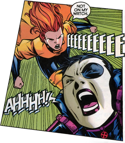 Siryn of X-Force (Marvel Comics) (Cassidy) vs. Domino