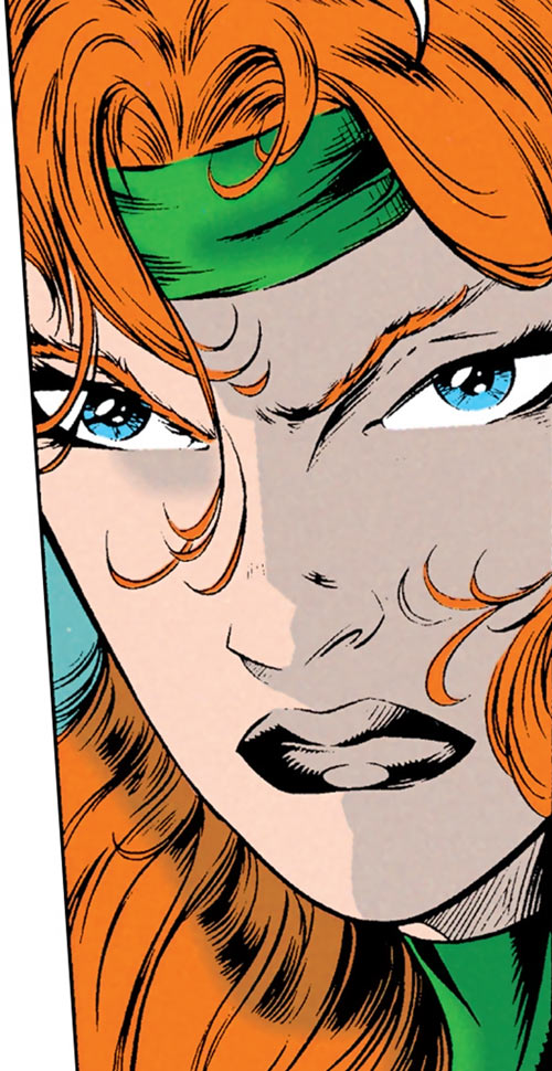 Siryn of X-Force (Marvel Comics) (Cassidy) face closeup tense