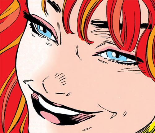 Siryn of X-Force (Marvel Comics) (Cassidy) face closeup smile