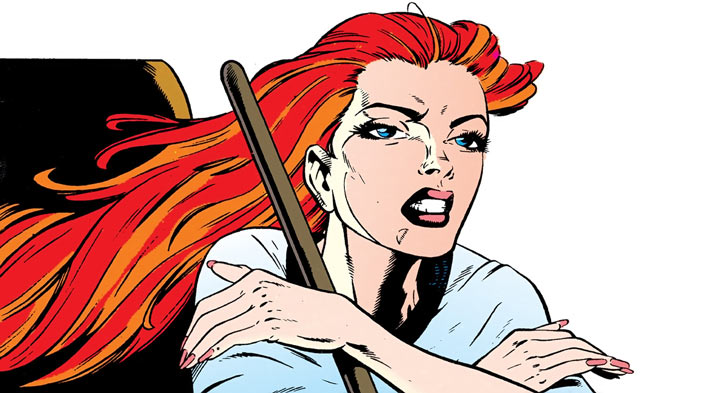 Siryn of X-Force (Marvel Comics) (Cassidy) gardening face closeup