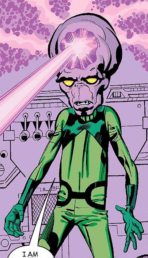 6 Million Year Man (Hatch-22) (Black Panther) (Marvel Comics) firing a purple beam