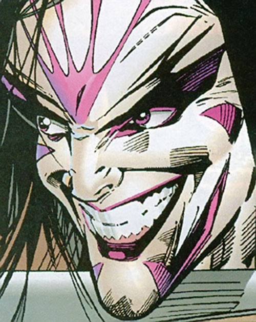 Skin Dance (Sovereign 7 enemy) (DC Comics) face closeup
