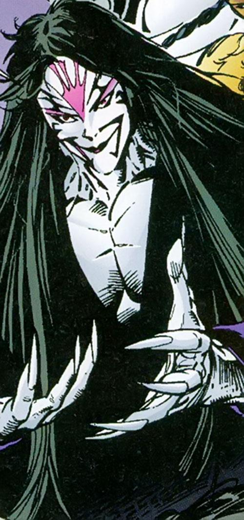 Skin Dance (Sovereign 7 enemy) (DC Comics) smiling