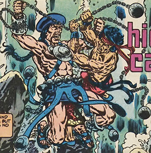 Shang Chi the Master of Kung Fu wrestling Skullcrusher (Marvel Comics)